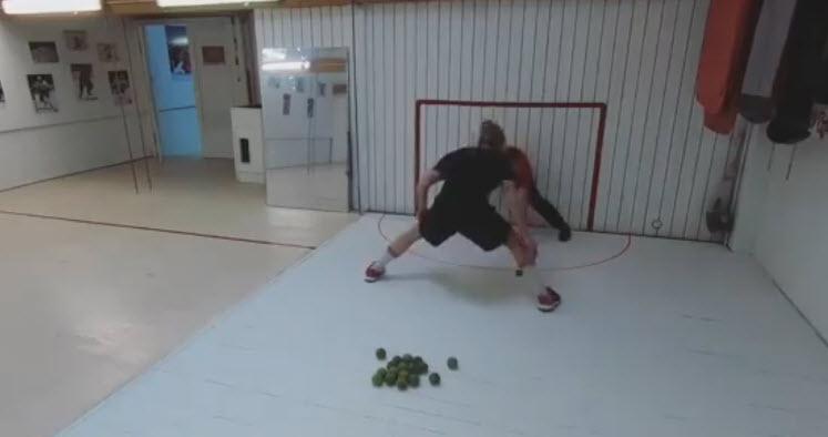 Trénink golmanů v hokeji