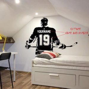 Hokejová samolepka na zeď